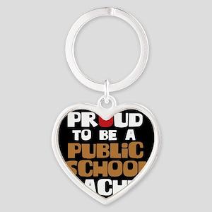Proud To Be A Public School Teacher Heart Keychain