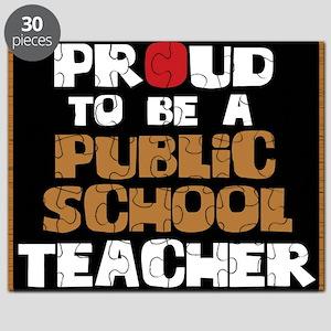 Proud To Be A Public School Teacher Puzzle