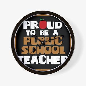Proud To Be A Public School Teacher Wall Clock