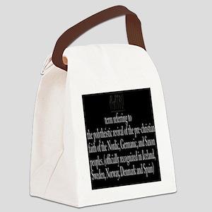 Asatru Definition Canvas Lunch Bag