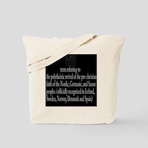 Asatru Definition Tote Bag