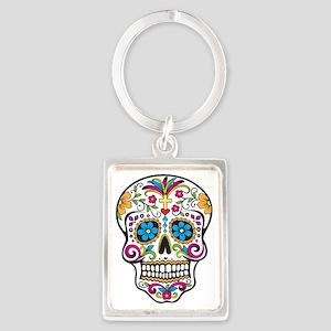 Sugar Skull Portrait Keychain