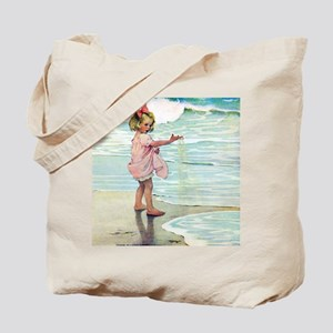 A Child at the Beach_SQ Tote Bag