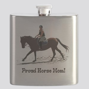 Proud Horse Mom Flask