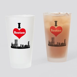 I Love Boston Drinking Glass