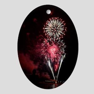 Firework 2 Oval Ornament