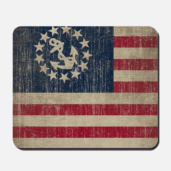 Vintage Yacht Flag Mousepad