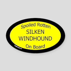 Spoiled Silken Windhound On Board  Oval Car Magnet