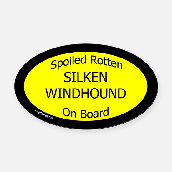 Spoiled Silken Windhound On Board  Oval Car Magnet