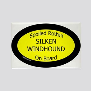 Spoiled Silken Windhound On Board Rectangle Magnet