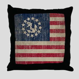 Vintage Yacht Flag Throw Pillow