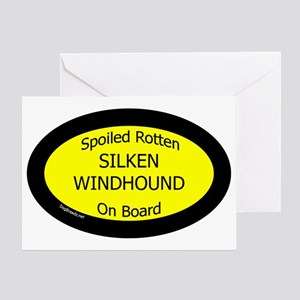 Spoiled Silken Windhound On Board Ov Greeting Card