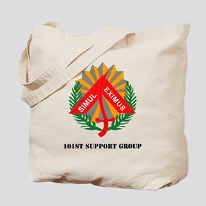 101st Support Group with Text Tote Bag