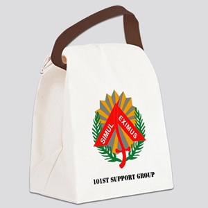 101st Support Group with Text Canvas Lunch Bag