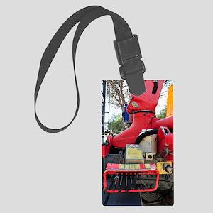 Crane truck control panel Large Luggage Tag