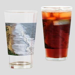 Burton Bradstock cliffs Drinking Glass