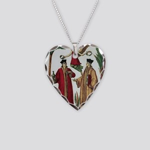 Cosmas and Damian, Christian  Necklace Heart Charm