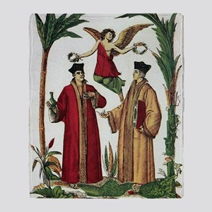 Cosmas and Damian, Christian saints Throw Blanket