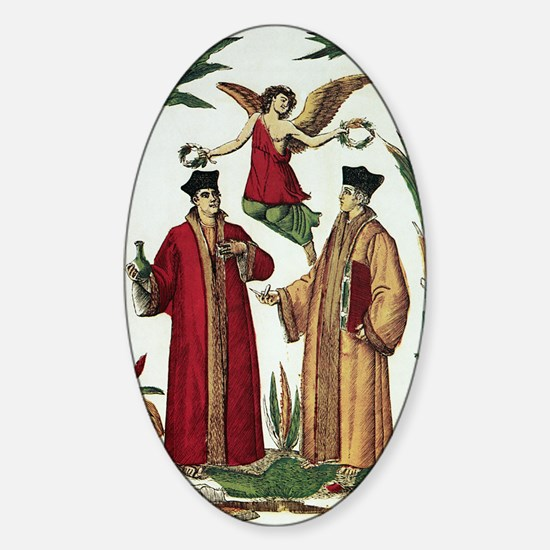 Cosmas and Damian, Christian saints Sticker (Oval)