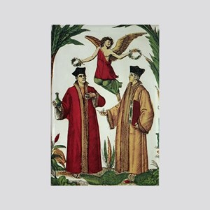 Cosmas and Damian, Christian sain Rectangle Magnet