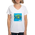 idive reef fish Women's V-Neck T-Shirt