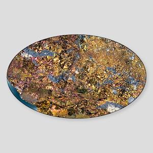 Bornite mineral Sticker (Oval)