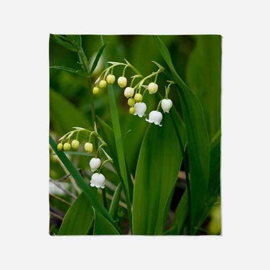 Convallaria majalis (Lily of the Val Throw Blanket