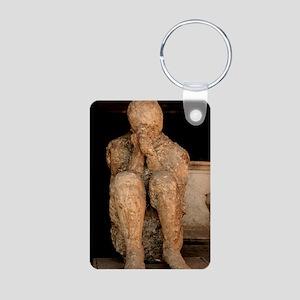 Body cast, Pompeii Aluminum Photo Keychain