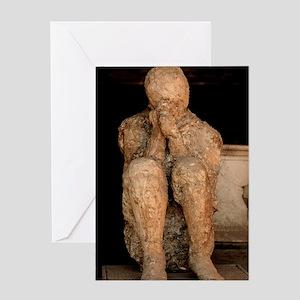 Body cast, Pompeii Greeting Card