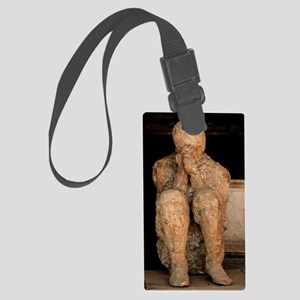 Body cast, Pompeii Large Luggage Tag