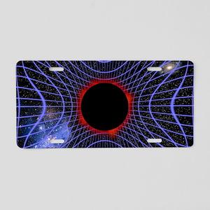 Black hole, artwork Aluminum License Plate