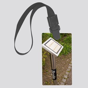 Braille sign in botanical garden Large Luggage Tag