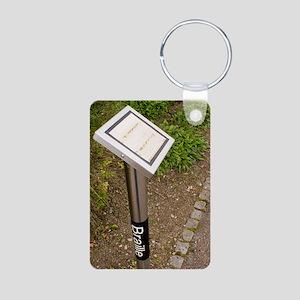 Braille sign in botanical  Aluminum Photo Keychain