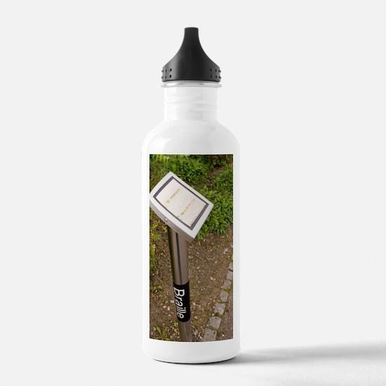 Braille sign in botani Water Bottle