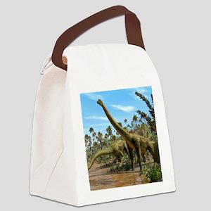 Brachiosaurus dinosaurs Canvas Lunch Bag