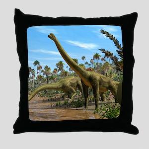 Brachiosaurus dinosaurs Throw Pillow