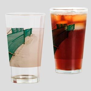 Beach fence Drinking Glass