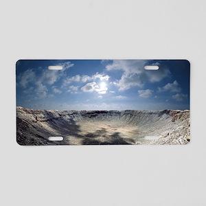 Barringer Crater Aluminum License Plate