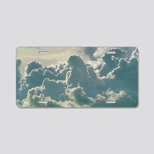 Billowing bank of cumulus c Aluminum License Plate