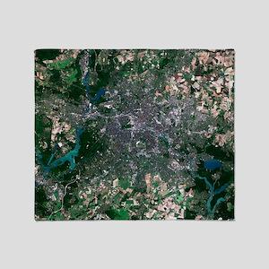 Berlin, Germany, satellite image Throw Blanket