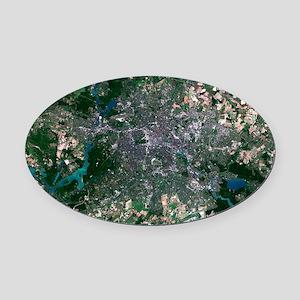 Berlin, Germany, satellite image Oval Car Magnet