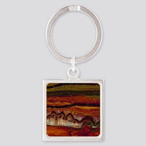 Banded iron formation Square Keychain