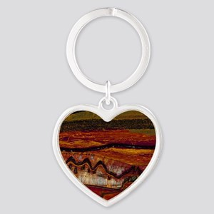 Banded iron formation Heart Keychain