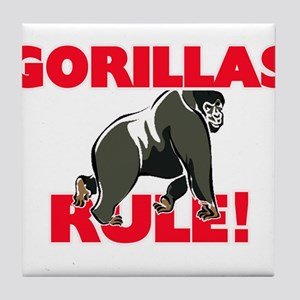 Gorillas Rule! Tile Coaster