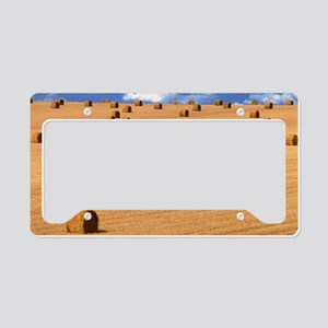 Bales of straw License Plate Holder
