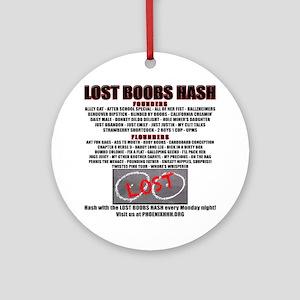 201207 Lost Boobs Round Ornament