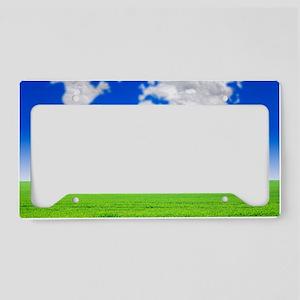 Cloud world map, artwork License Plate Holder