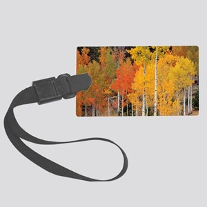 Autumn Aspen trees Large Luggage Tag