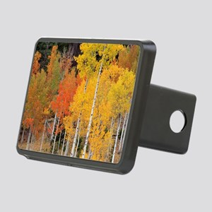 Autumn Aspen trees Rectangular Hitch Cover