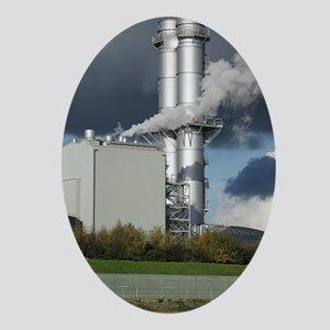 Combined cycle gas turbine power sta Oval Ornament